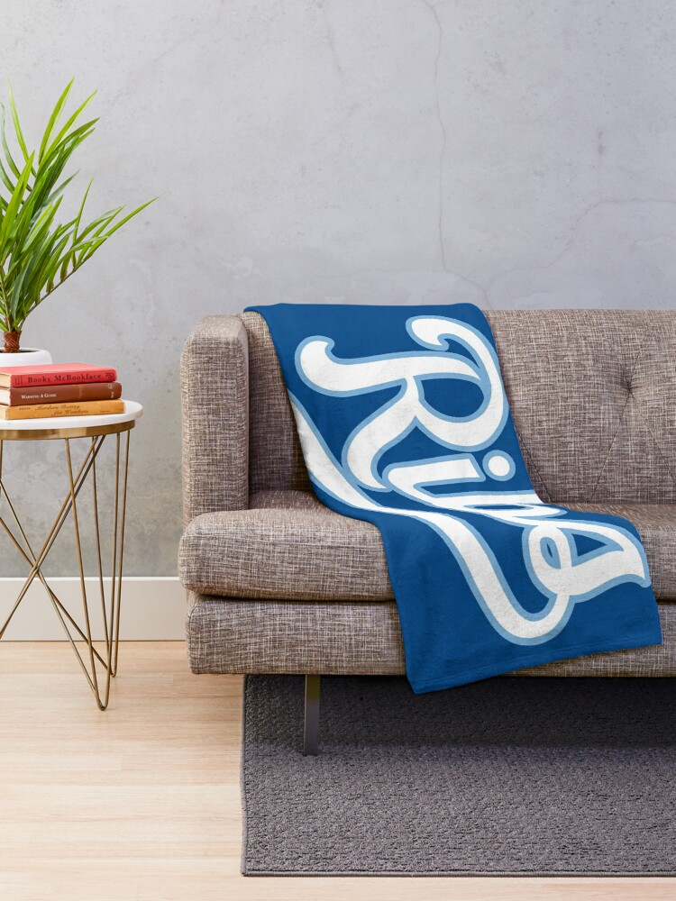 Alternate view of KC Ribs - Blue 2 Throw Blanket