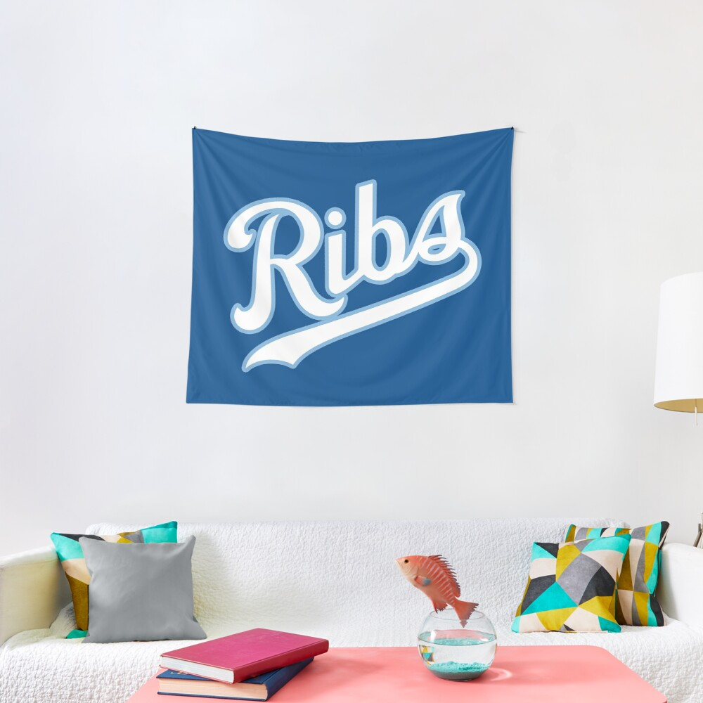 KC Ribs - Blue 2 Tapestry