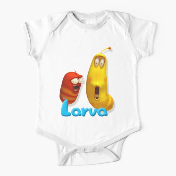 Twolarp Red Yellow Larva also known as Larvae TV 2020 Short Sleeve Baby One-Piece