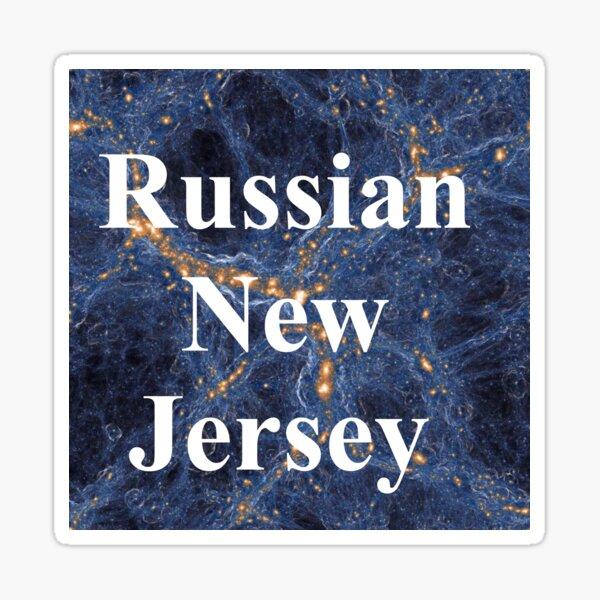 Russian New Jersey Sticker
