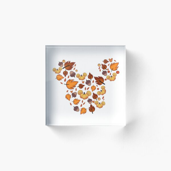 Fall Mouse  Acrylic Block