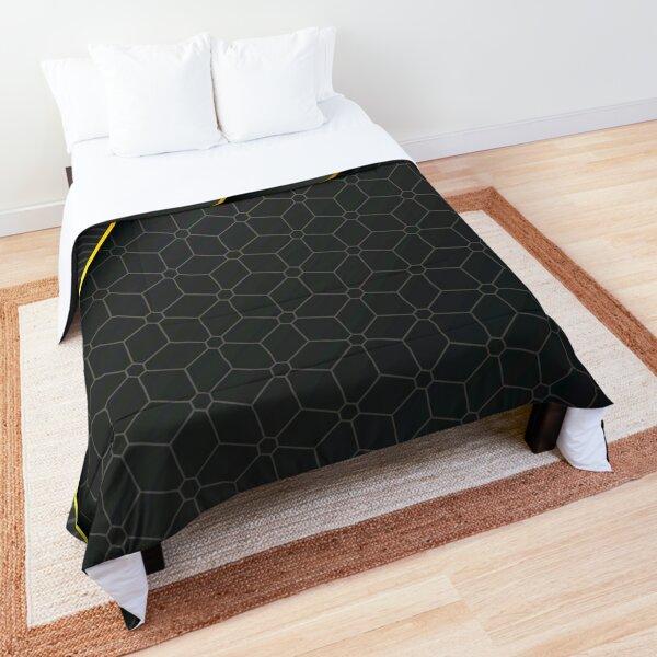 Dark Grey Elegant geometric background Comforter