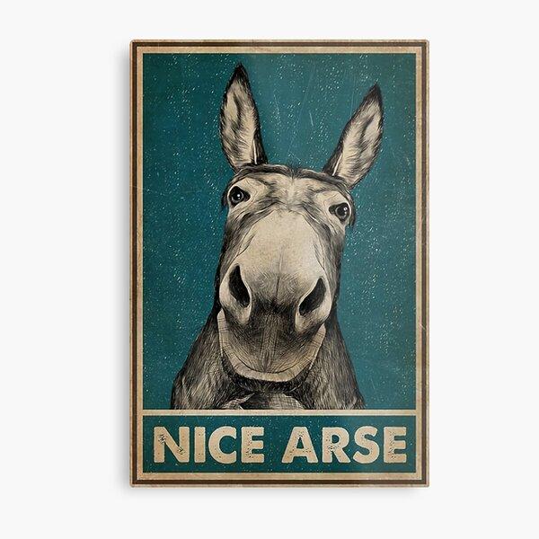nice arse donkey poster Metal Print