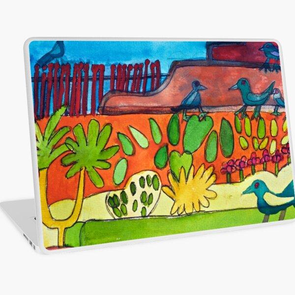Mexican Garden Courtyard Zionart Zion Levy Stewart Artist Laptop Skin
