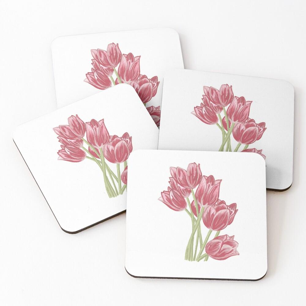 Tulipanes Posavasos (lote de 4)