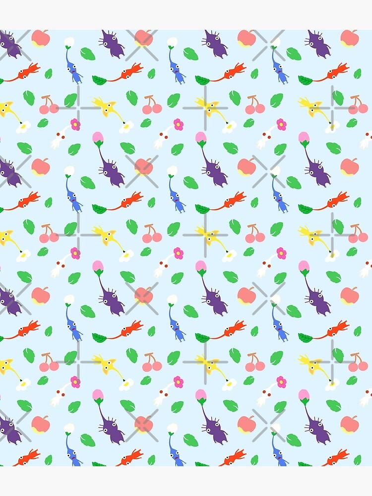 cute pikmin pattern blue by Mkawaii