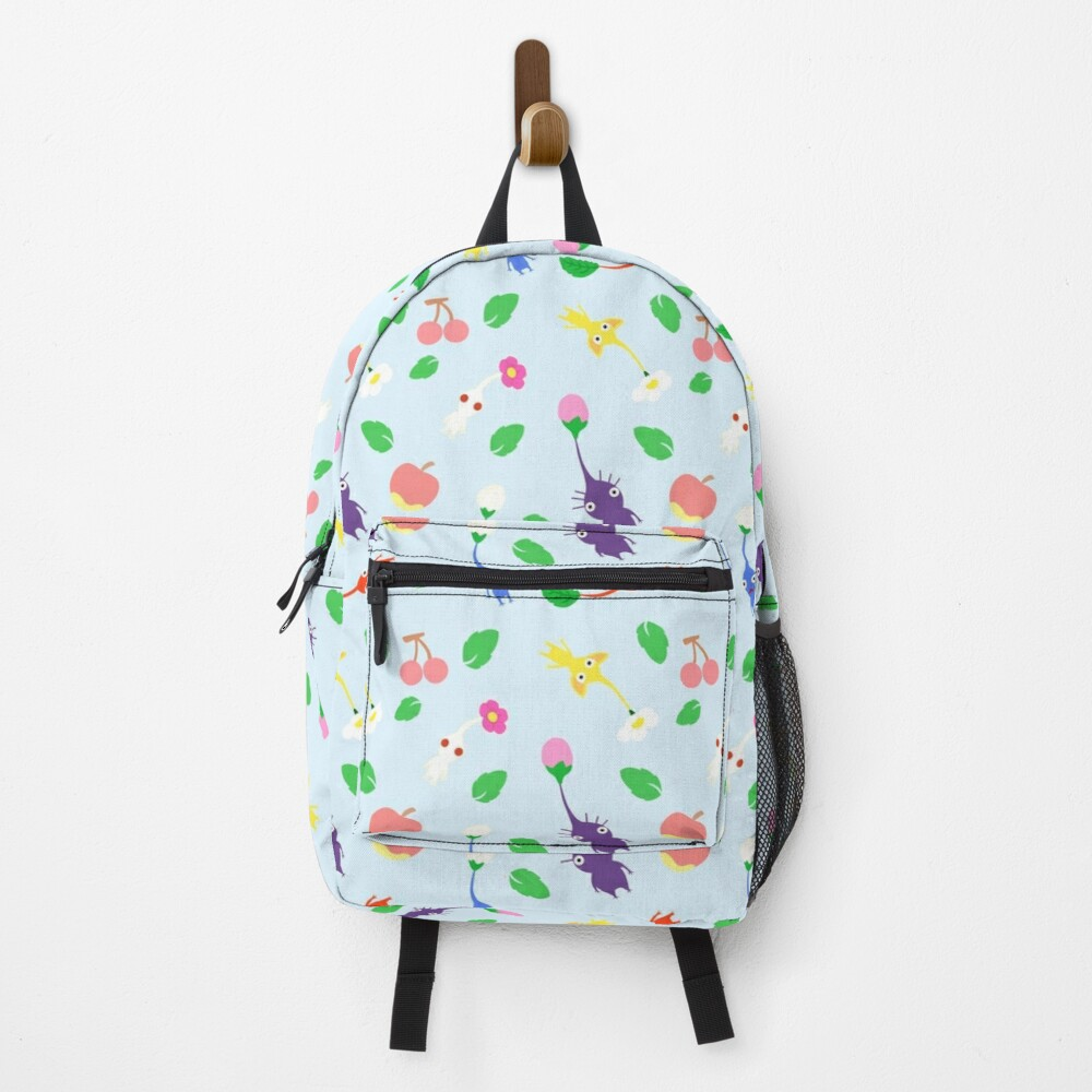 cute pikmin pattern blue Backpack