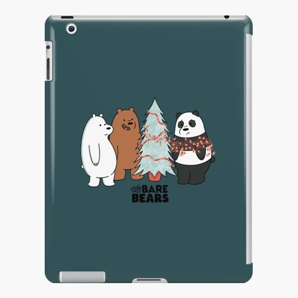 We Bare Bears at Christmas time putting up the lights iPad Snap Case