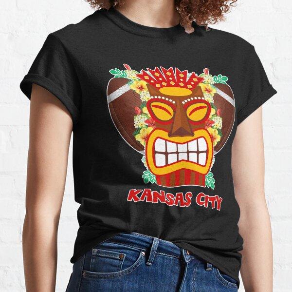 Kansas City Hawaiian Tropical Tiki Football Graphic Classic T-Shirt