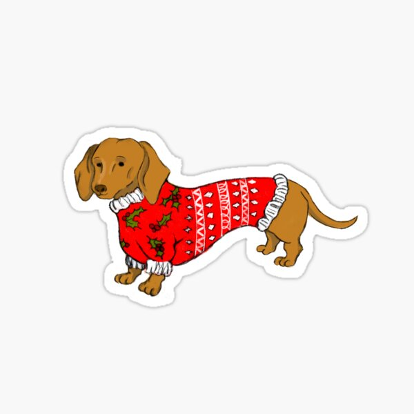 Dashing Daschund Sticker