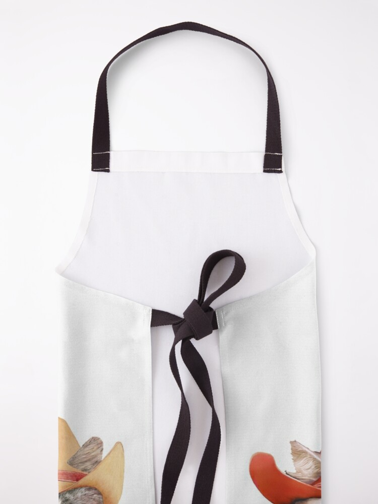 Alternate view of Cowboy Cats Apron
