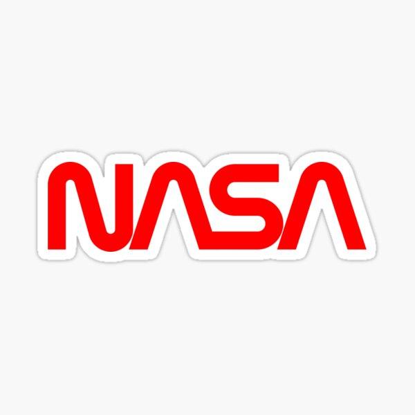 Official NASA Worm Red Logo MathWare Sticker