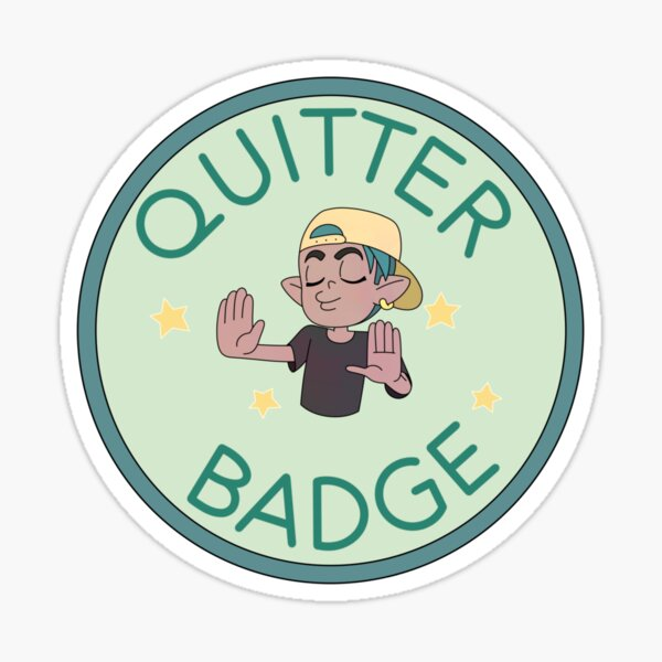 Quitter Badge (The Owl House) Sticker
