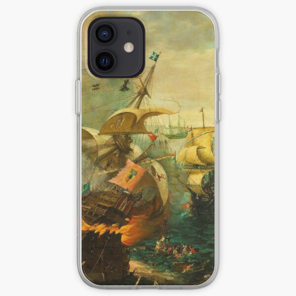 Jigsaw Puzzle Epic Battle of Gibraltar between the Dutch and Spanish in 1607, 1000 Piece Adults iPhone Soft Case