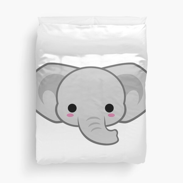 Cute African Elephant Duvet Cover