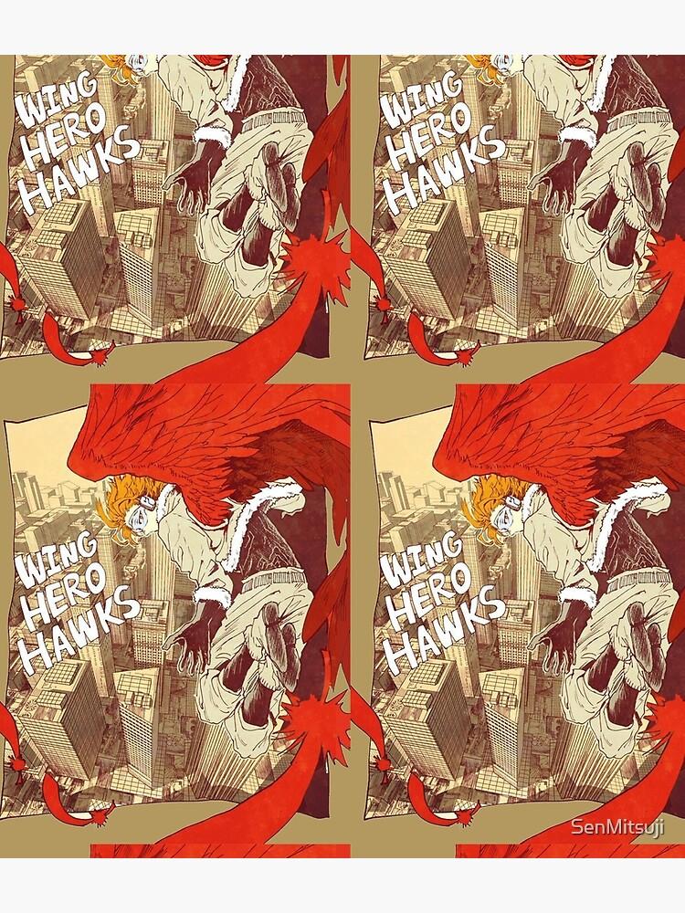 MHA Wing Hero Hawk comic style by SenMitsuji