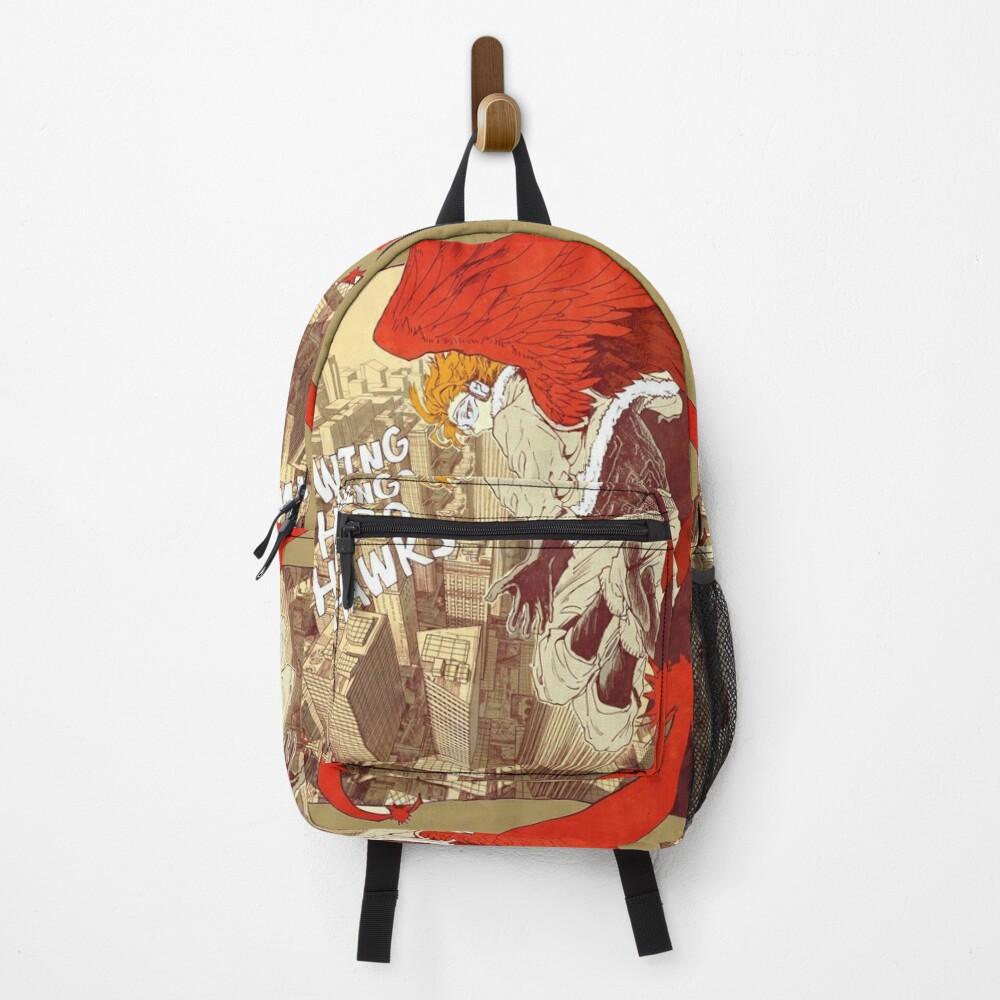 MHA Wing Hero Hawk comic style Backpack