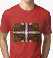 Psychedelic Abstract colourful work 227(Tile) Tri-blend T-Shirt