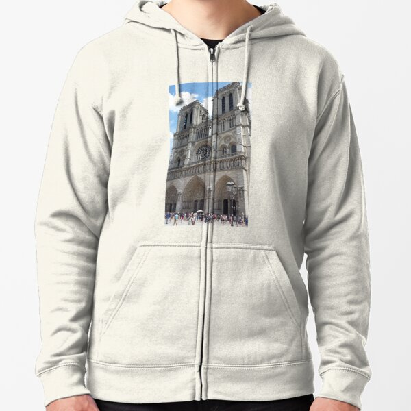 Notre Dame Cathedral of Paris France Zipped Hoodie