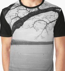 Black and White Camden, Maine  Graphic T-Shirt