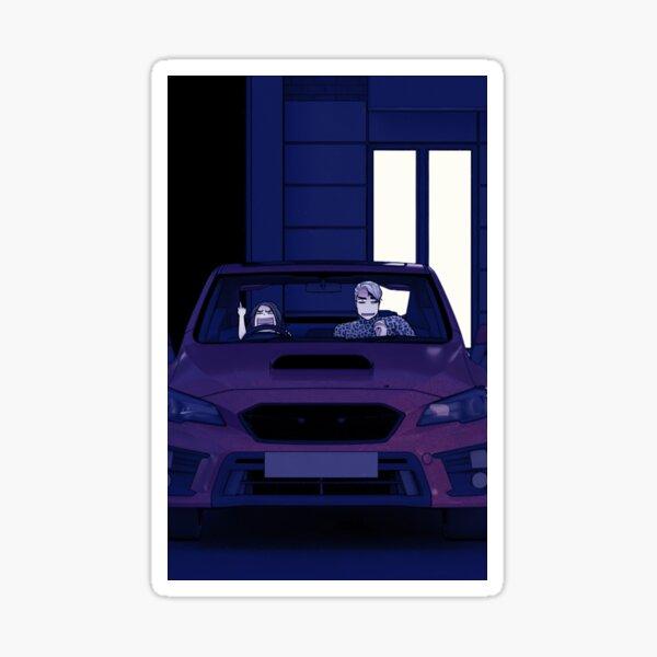 Angry Poppy mit Quincey im Auto Sticker