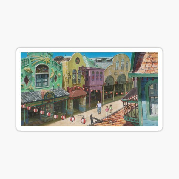 Chihiro perdu dans la ville - Spirited Away Sticker