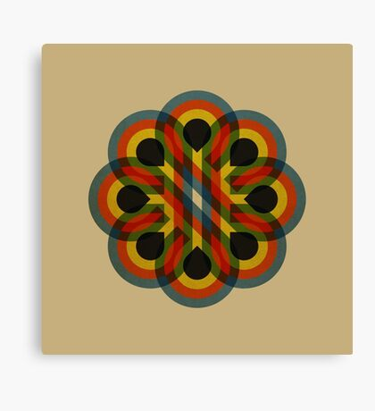 Circles to Flower Canvas Print