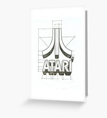 Atari logo Greeting Card