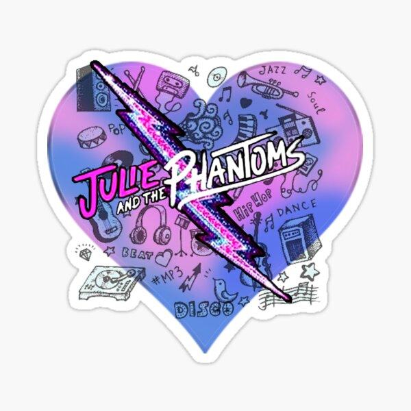Julie et les fantômes au cœur Sticker
