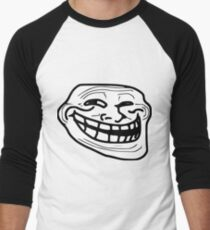 Troll Face Meme Men's Baseball ¾ T-Shirt