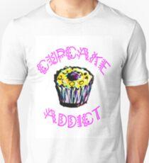 Cupcake Addict  Unisex T-Shirt