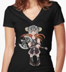 Dovahkiin(Girl) Women's Fitted V-Neck T-Shirt