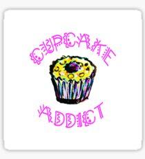 Cupcake Addict  Sticker