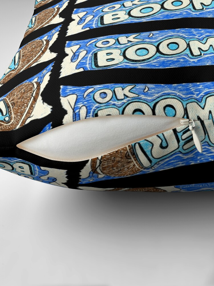 Alternate view of OK Boomer (Black) Throw Pillow