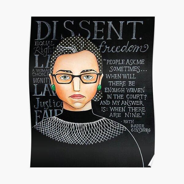 Feminist Ruth Bader Ginsburg Poster