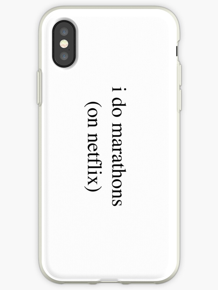 the best attitude 64af0 4714d 'I Do Marathons... Hipster/Trendy/Tumblr Meme' iPhone Case by Vrai Chic