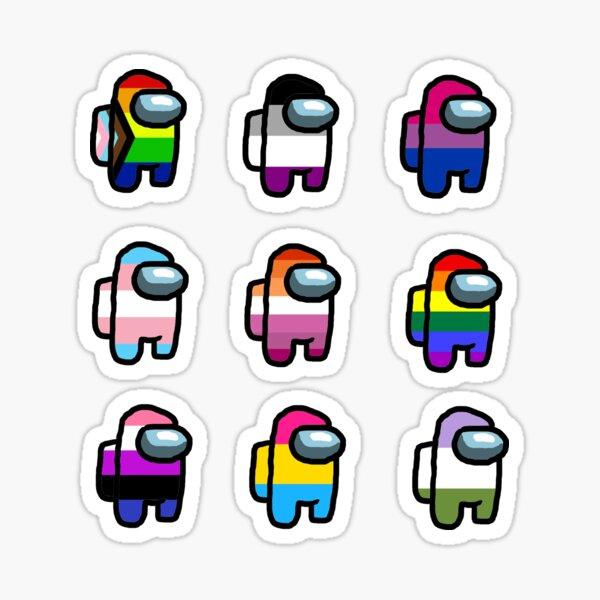 among us lgbtq+ pride (sticker pack!) Sticker