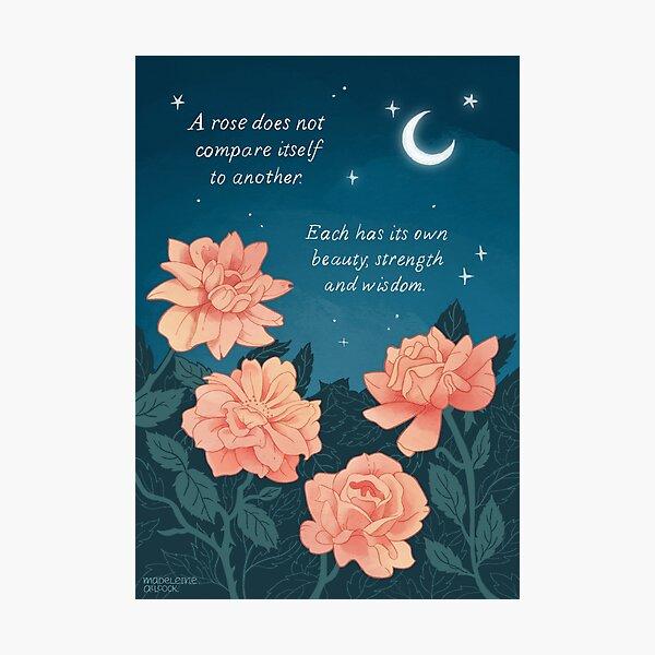 Motivational Roses Photographic Print