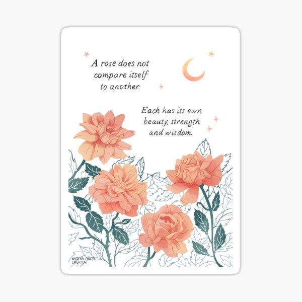 Motivational Roses Sticker