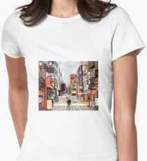 Early Morning Ride Womens Fitted T-Shirt
