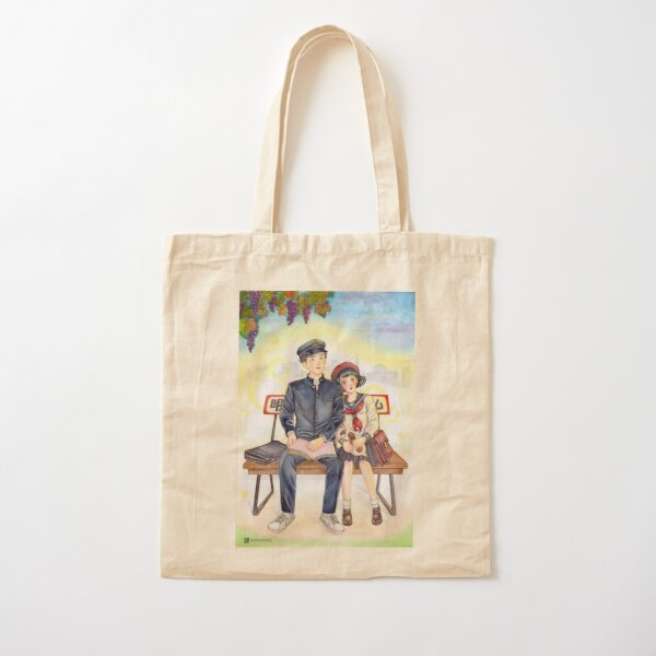 Autumn bench Cotton Tote Bag