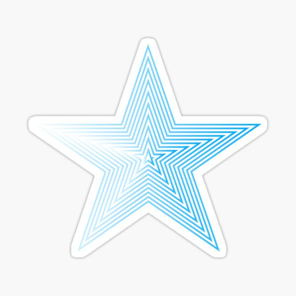 Star Lines Sticker