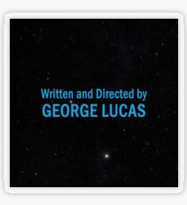 Written and Directed by George Lucas Transparent Sticker