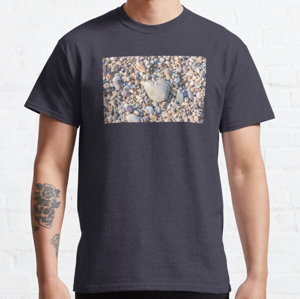 Stones on the beach stone heart heart made of stone Classic T-Shirt