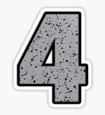 AJ 4 Cement Sticker