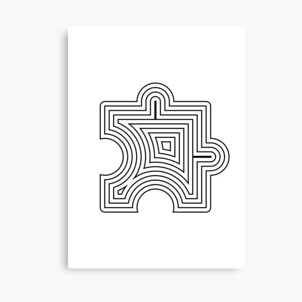 Puzzle Lines Art Canvas Print