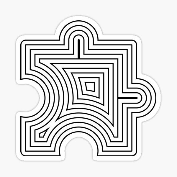 Puzzle Lines Art Sticker