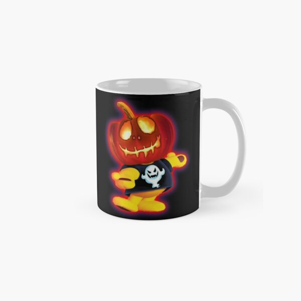 Halloween Pumpkin Head Ted by OrganicBeej Classic Mug