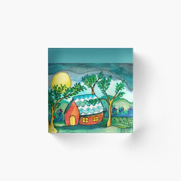 Home Sweetest Home Acrylic Block