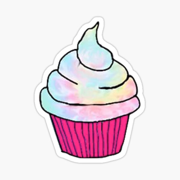 Rainbow Cupcake Sticker